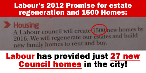 Labour have only delivered 27 of the 1500 new homes they promised in 2012