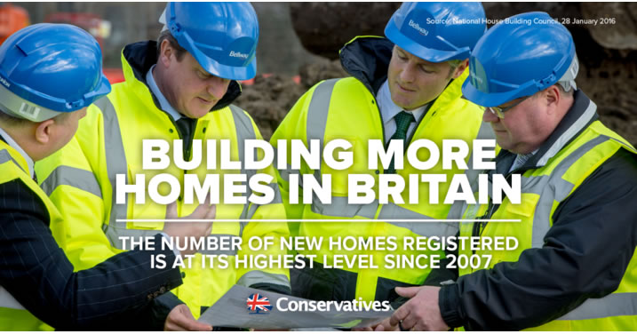 Conservatives are building more homes in Britain