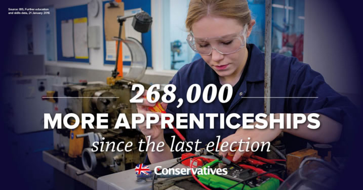 Conservatives Delivering More Apprenticeships
