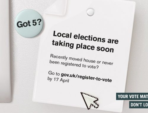 Deadline to register to vote: Tuesday 17th April