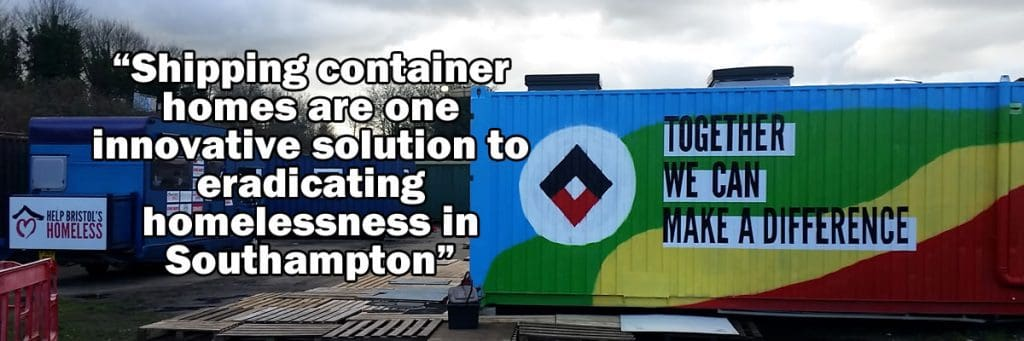 Shipping container homes in Bristol