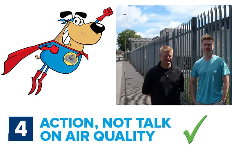 Steve, action not talk on air quality