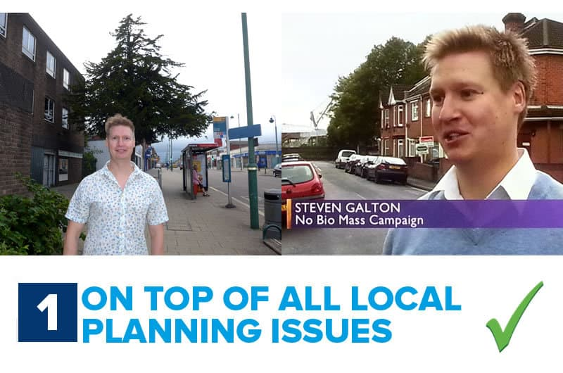 Steven Galton, on top of local planning applications