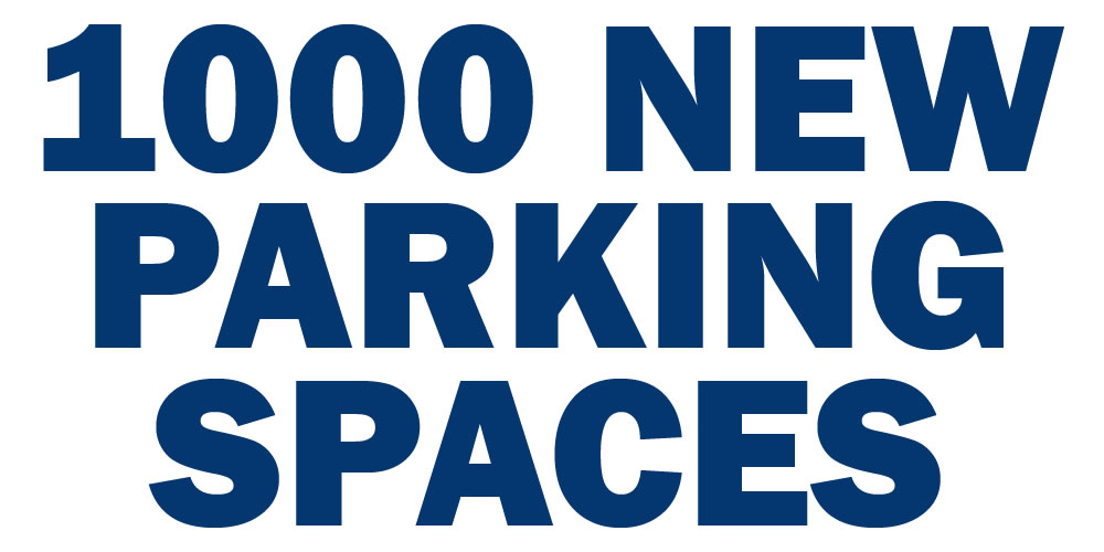 1000 new parking spaces
